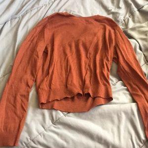 Rust Orange Cropped Sweater